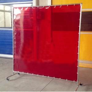 1.72m宽防辐射软玻璃帘厂房大片防电焊渣挡板