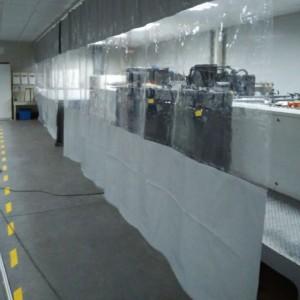 0.4mm厚无味洗车门帘全透明空调隔音隔潮热防灰软玻璃防水门帘