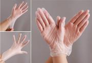 一次性PVC手套加厚透明装洗碗剥虾外卖S码送皮筋
